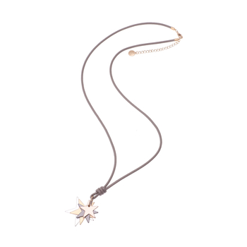 Necklace four stars <br>taupe
